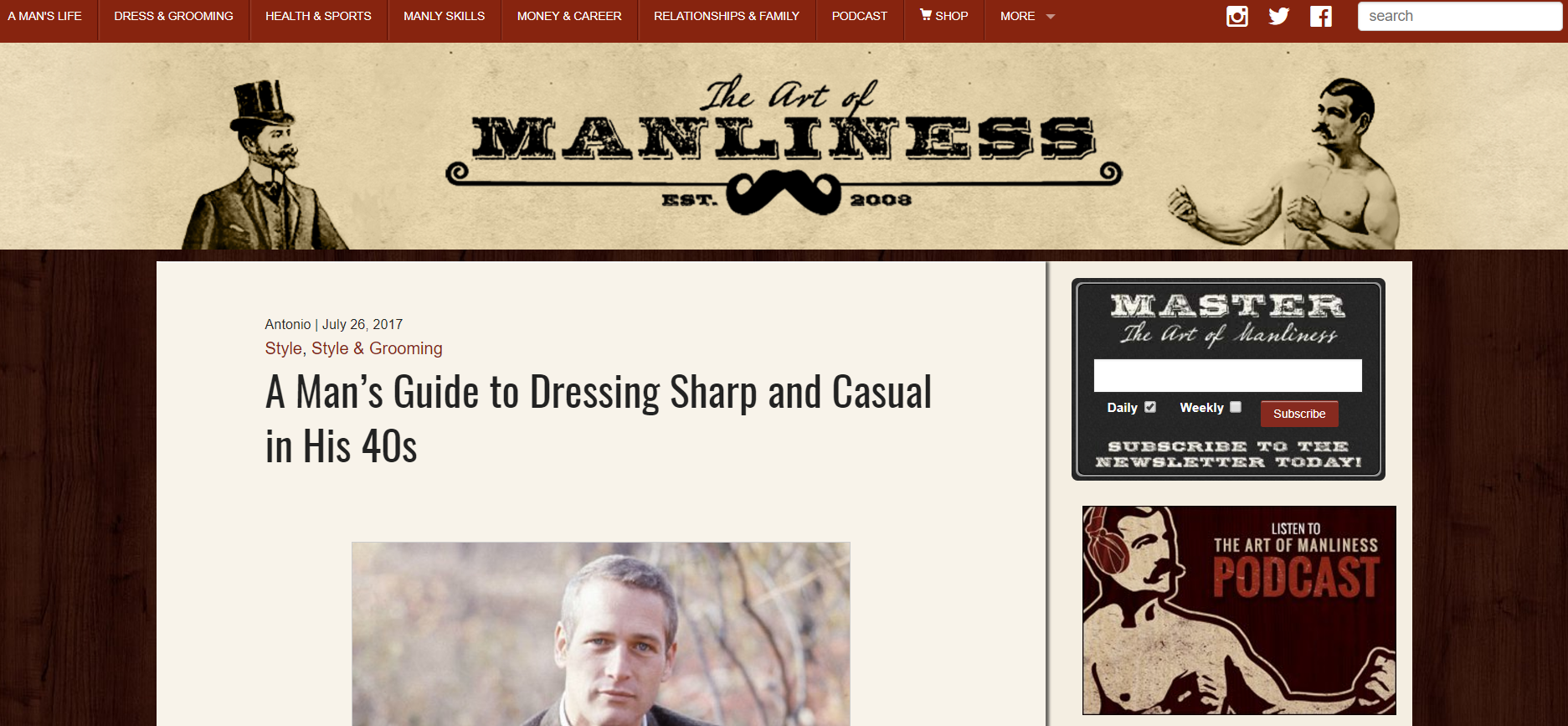 The Art Of Manliness Path Of Awesomeness